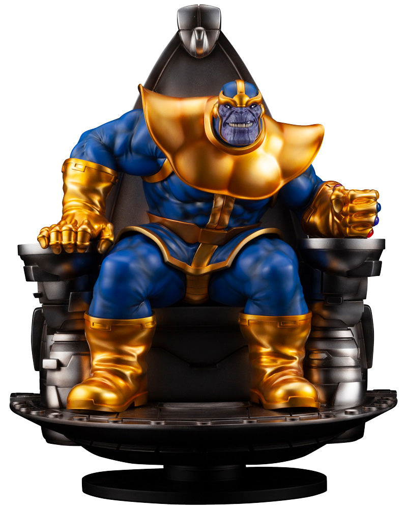 Marvel Universe Thanos on Space Throne Fine Art Statue