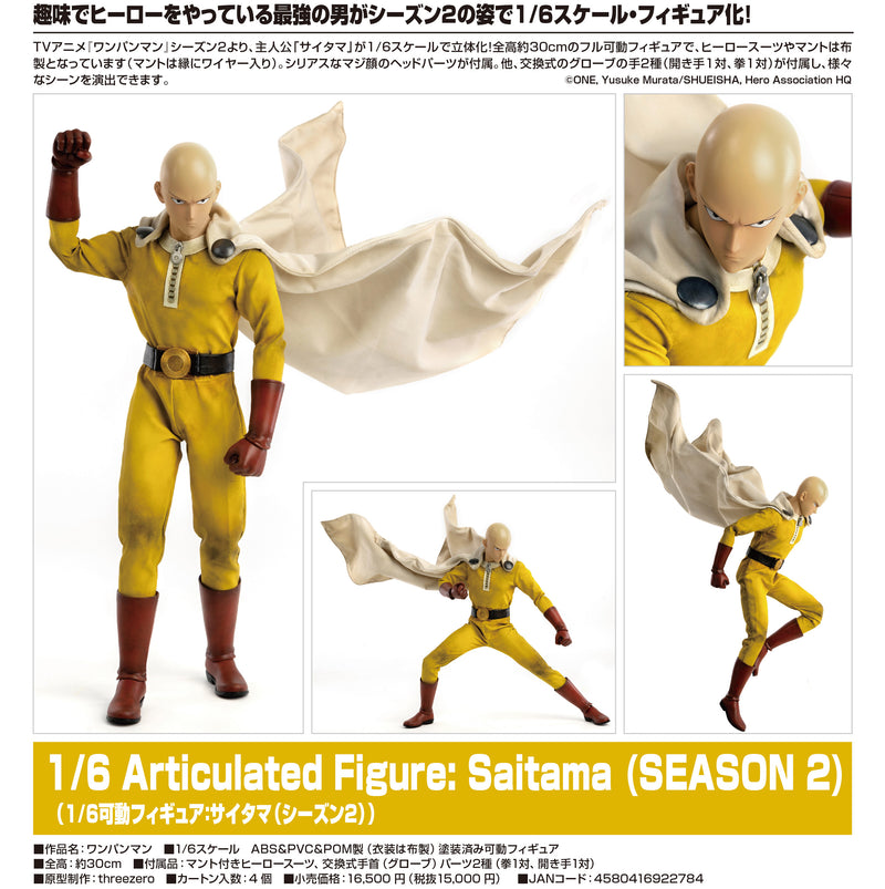 """One-Punch Man"" 1/6 Articulated Figure Saitama (Second Season)"
