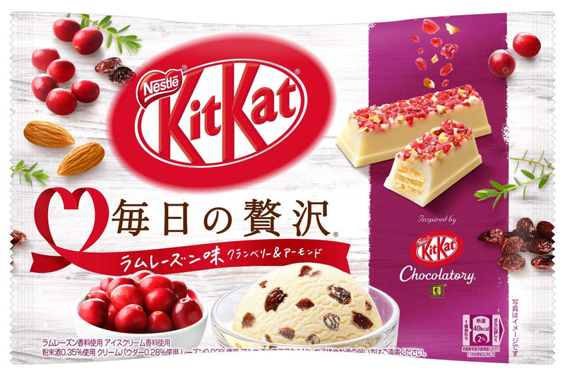 Kit Kat Chocolatory Luxury Rum Raisin Ice Cream with Cranberry and Almond