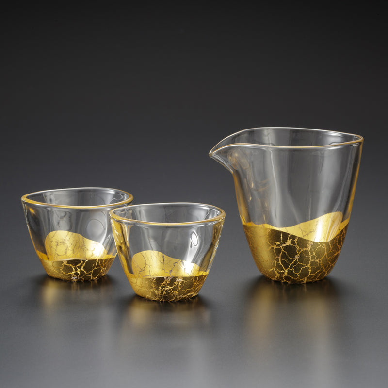 Hakuichi Gold leaf Liquor Glass Set