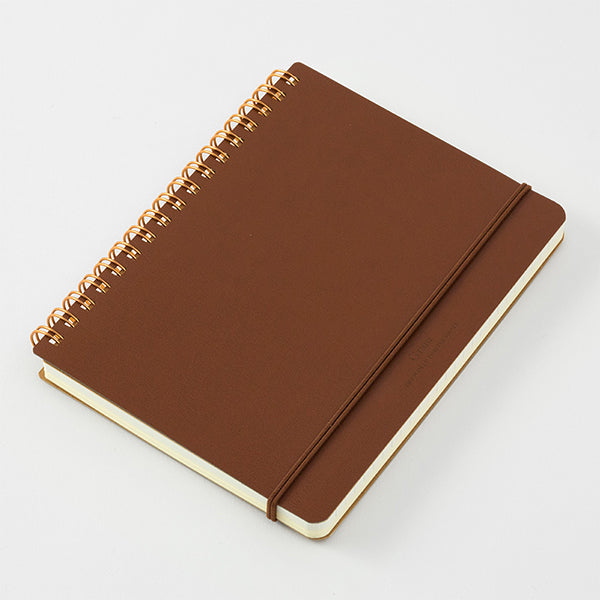 Midori Grain Leather Notebook - B6 - (Dark Brown or Black)