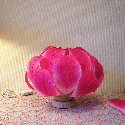 Magenta Flower Table Lamp by Sachie Muramatsu