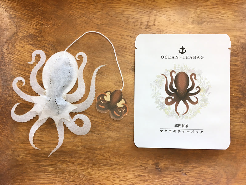 Squid (Ika) and Octopus (Tako) Kaiju Tea by Ocean Tea bag - Kraken - Cthulhu Tea