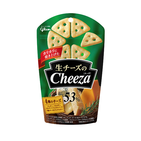 Cheeza Cheese Crackers 4 Cheese Flavor