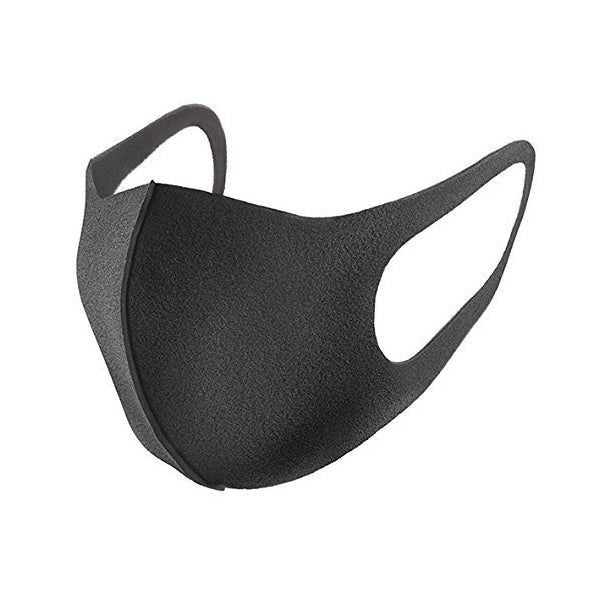 Pitta Polyurethane Face Mask - Gray (Pack of 3, Washable and Reusable)