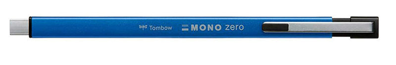 Tombow Mono Zero Metal Type Retractable Eraser (Red, Blue, Black, Silver)