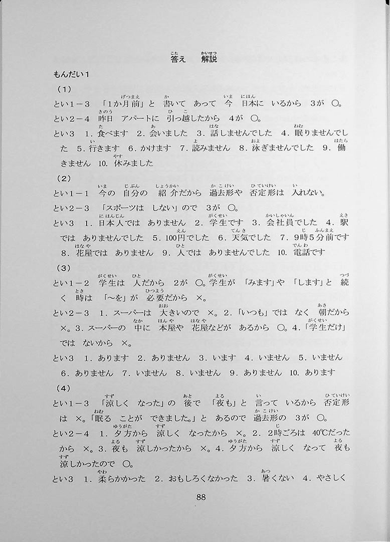 55 Reading Comprehension Tests for JLPT N5 Page 88