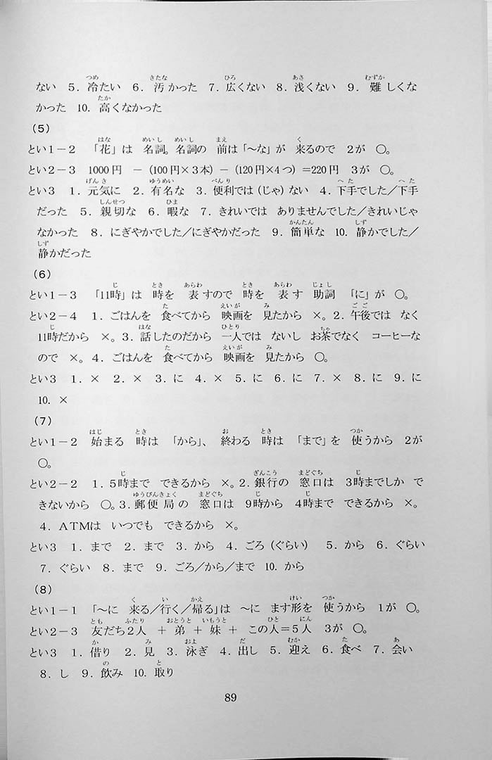 55 Reading Comprehension Tests for JLPT N5 Page 89