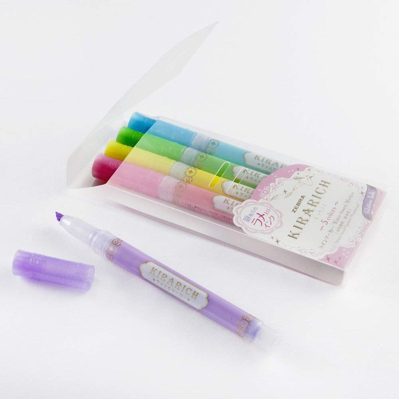 Kirarich Glitter Color Highlighter Set