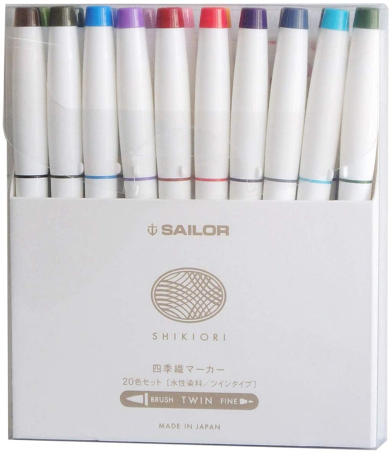 Sailor Shikiori Seasonal Japan Brush and Fine Tip Markers