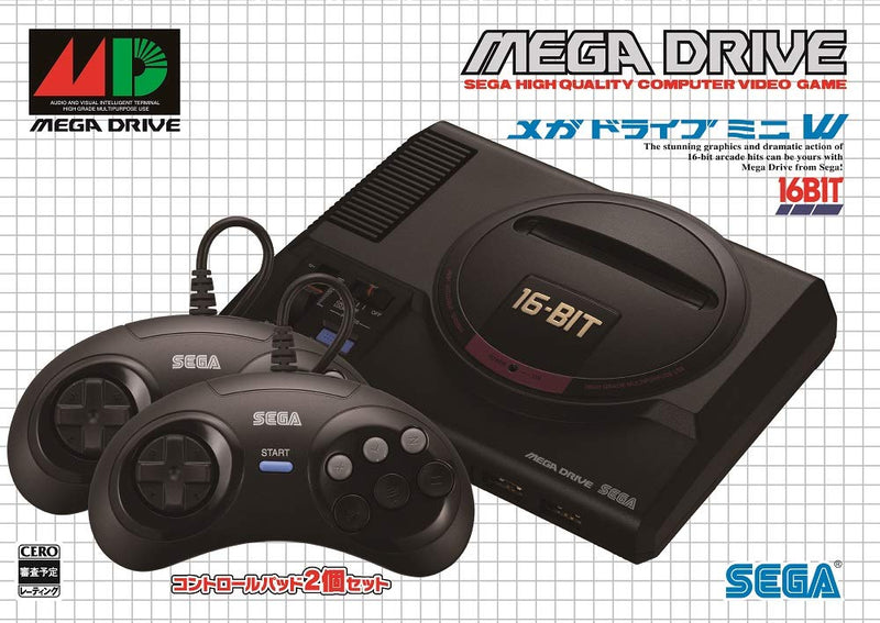 Megadrive Mini Game System with 2 Controllers