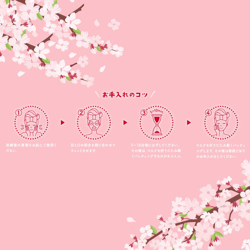 LuLuLun Sakura Face masks 2019 Seasonal Limited