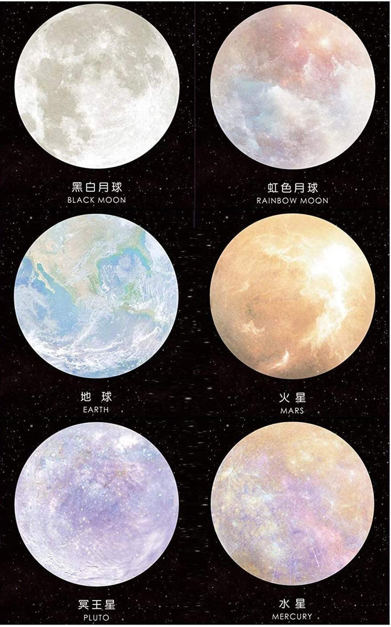 Moon and Planets Sticky Notes