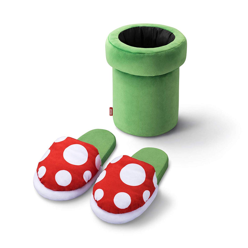 Super Mario Slippers and Holder