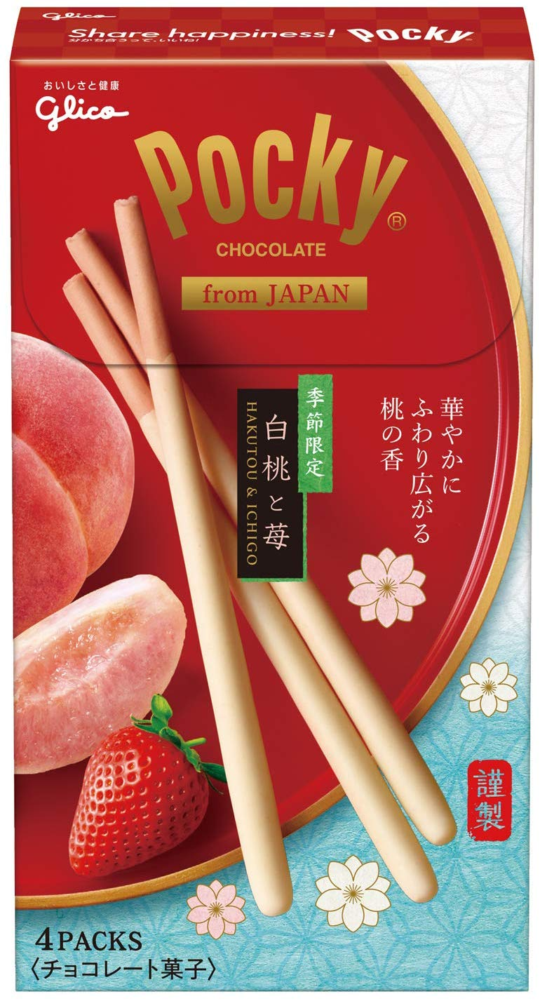 Pocky - White Peach and Strawberry - Limited Edition