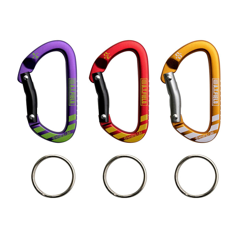 Evangelion A.T. Field Key Carabiner Set of 3
