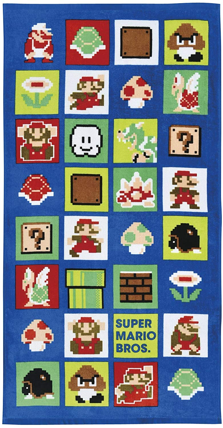 Super Mario Bath Towel (2 styles available)