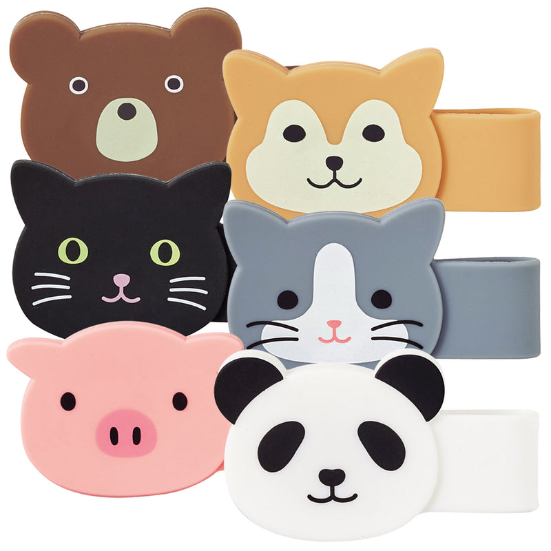 Lihit Lab Animal Magnetic Clip (Shiba, Pig, Bear, Cats, Panda)