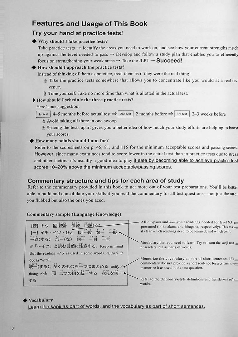 The Best Practice Tests for the Japanese Language Proficiency Test N3 Page 8