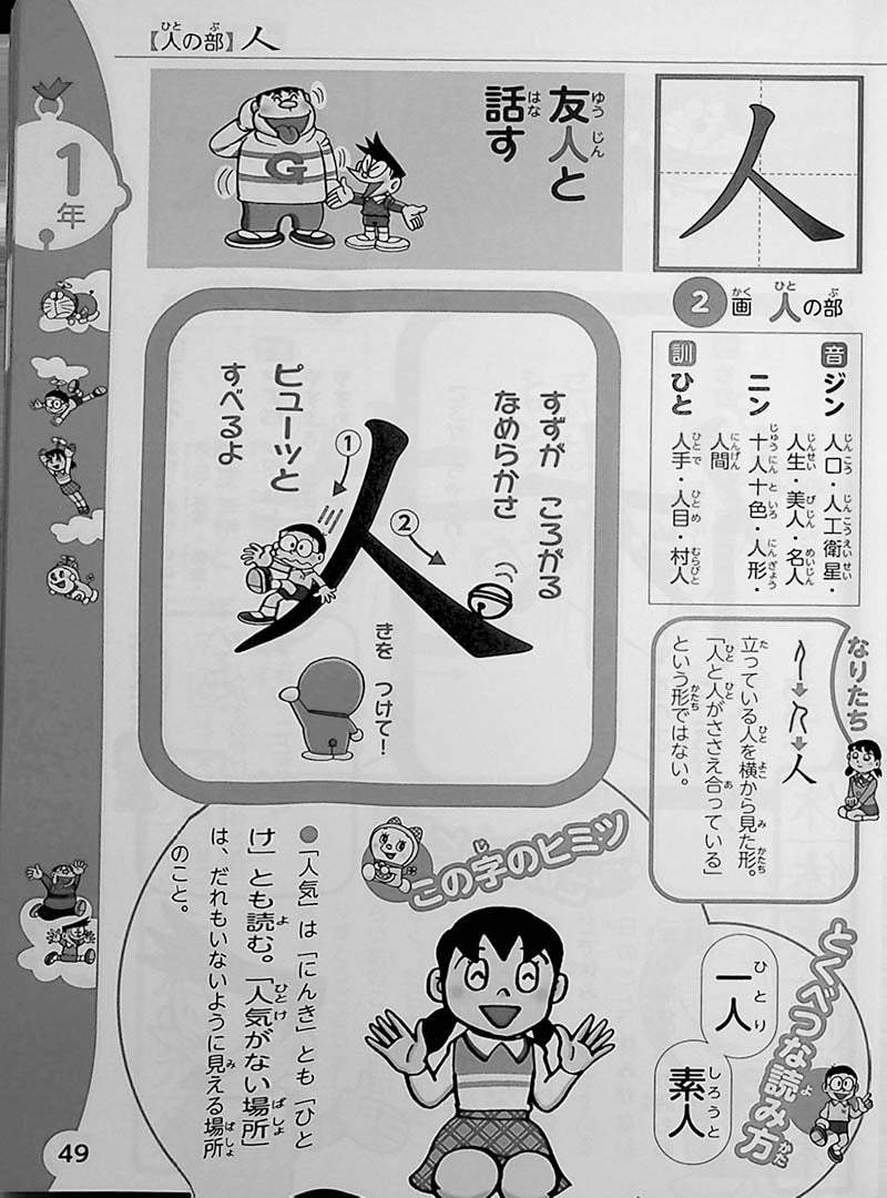 Doraemon: My First Kanji Dictionary Page 49