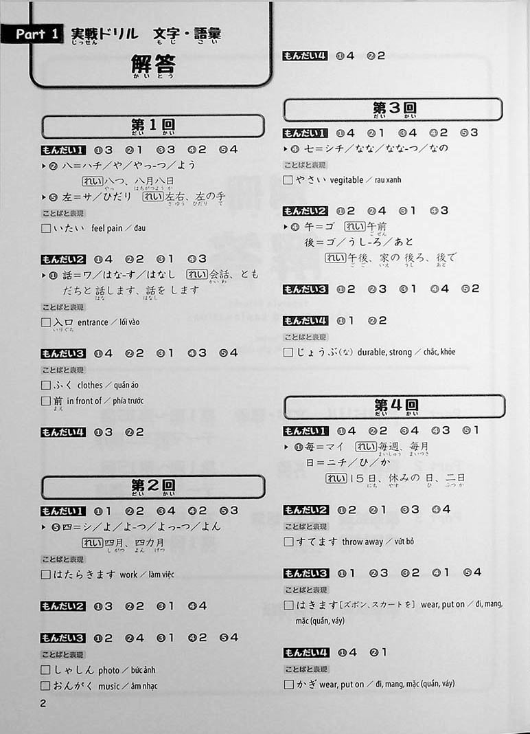 JLPT Chokuzen Taisaku: Drill and Mock Test N5 Page 2