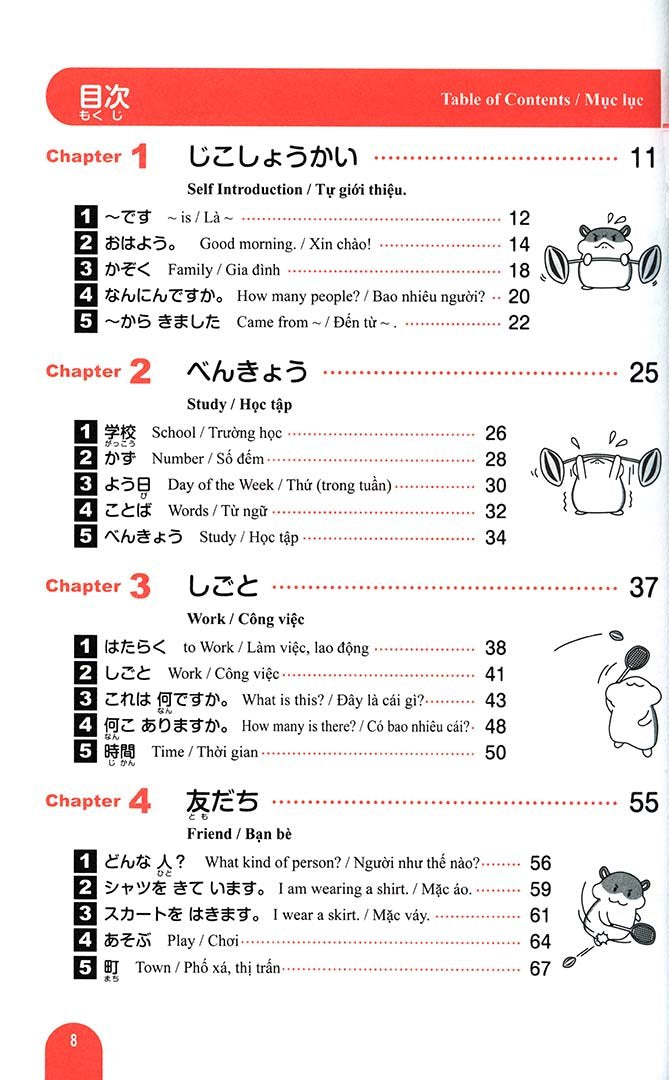 Essential Vocabulary 1000 Nihongo So Matome N5 Page 8
