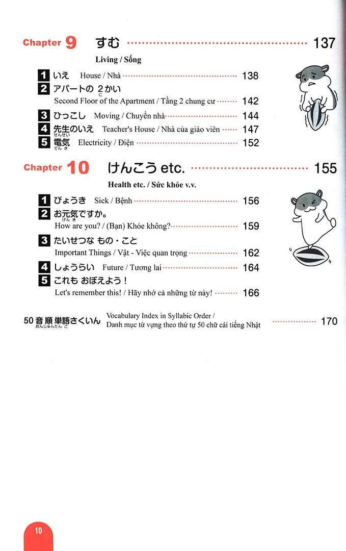 Essential Vocabulary 1000 Nihongo So Matome N5 Page 10