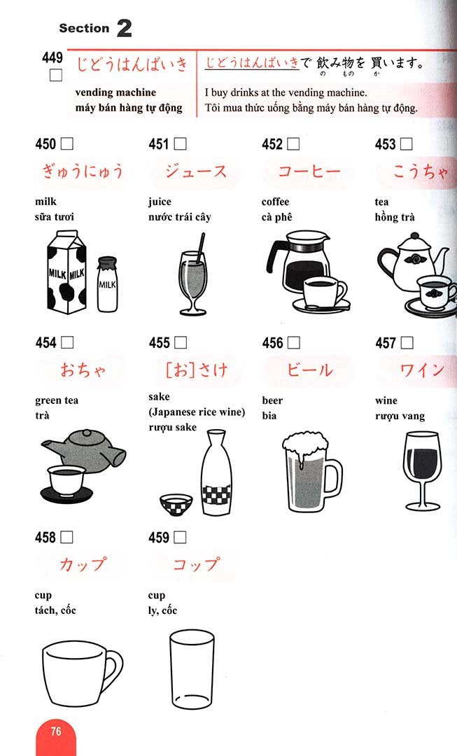 Essential Vocabulary 1000 Nihongo So Matome N5 Page 76