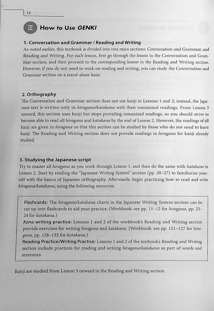 Genki 1: An Integrated Course in Elementary Japanese Third Edition Page 14