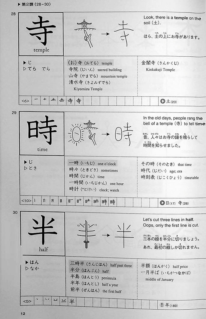 Genki Look and Learn Textbook Page 12
