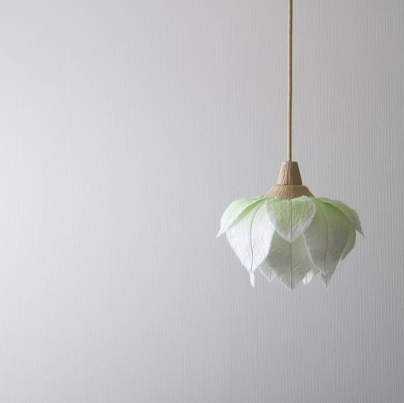 Hanging Lotus Flower Lanterns by Sachie Muramatsu (White, Pink, Blue)