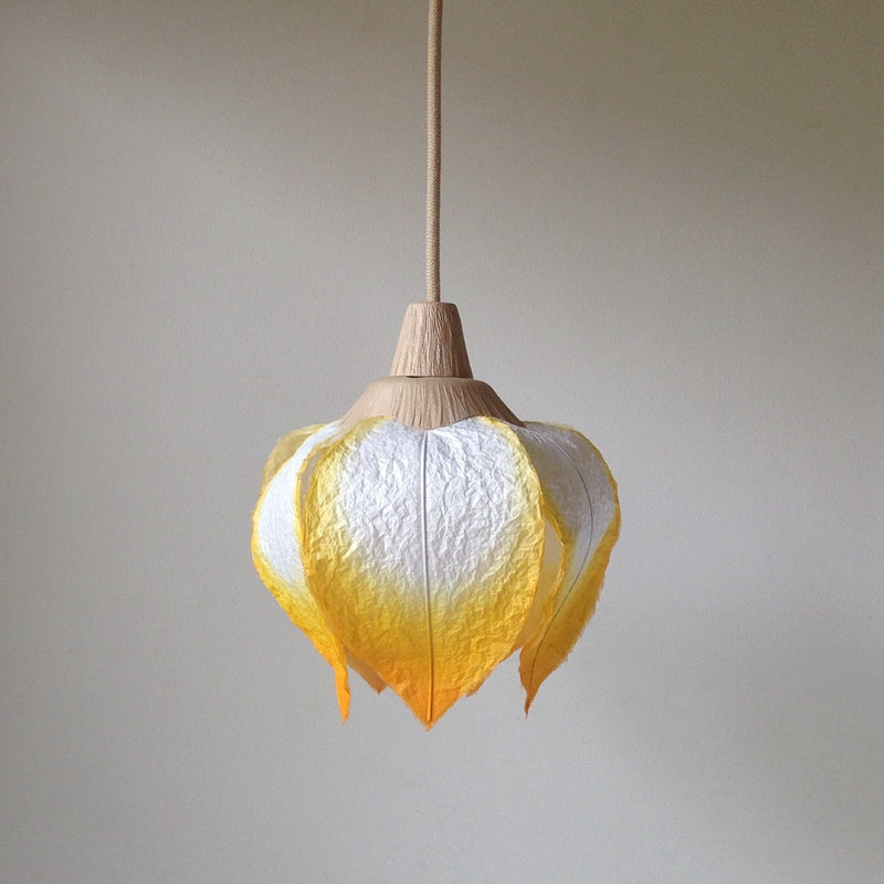 Hanging Flower Bud Lantern by Sachie Muramatsu (Orange, Ruby Red, Marigold)