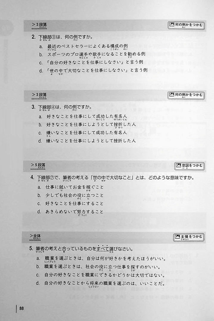 INTERMEDIATE JAPANESE READING Page 88