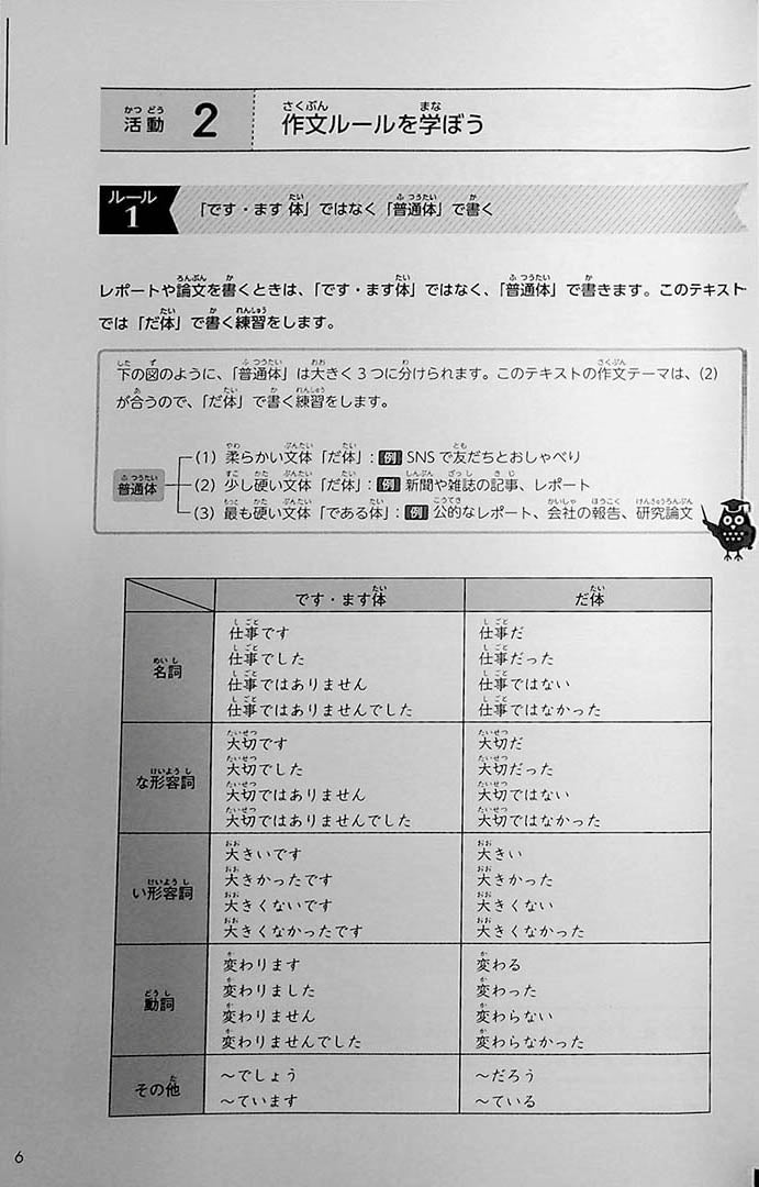 Intermediate Japanese Composition Writing Page 6
