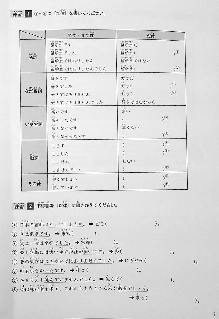 Intermediate Japanese Composition Writing Page 7