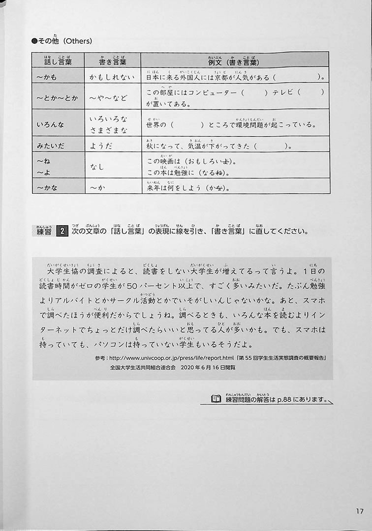 Intermediate Japanese Composition Writing Page 17