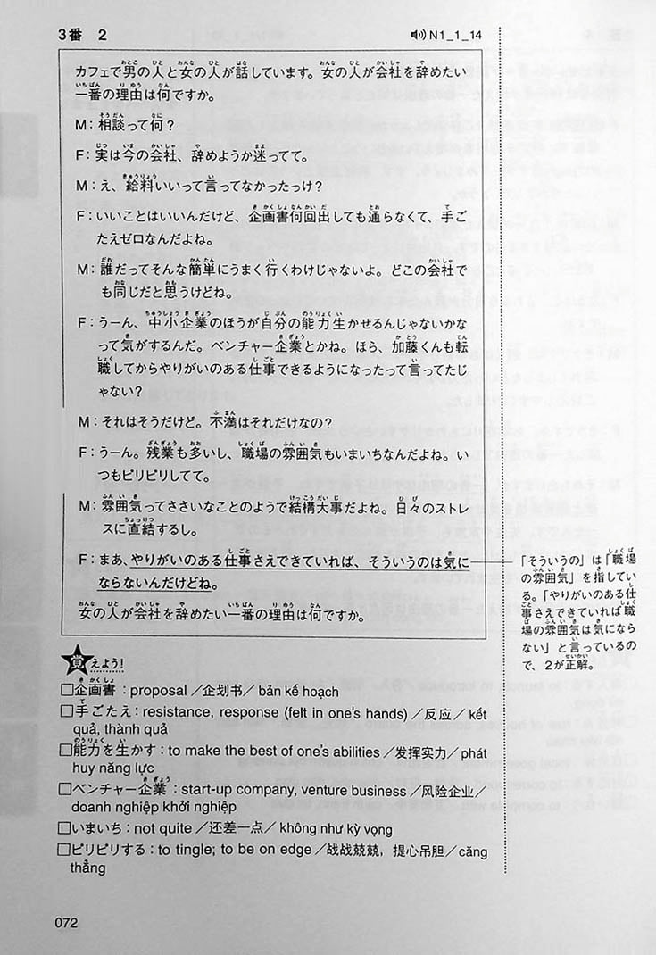 Intro to JLPT N1 Practice Tests Page 72