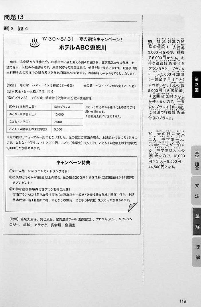 Intro to JLPT N1 Practice Tests Page 119