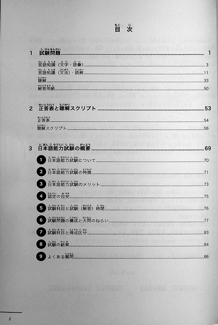 JLPT Official Practice Guide N3 Volume 2 Page 2