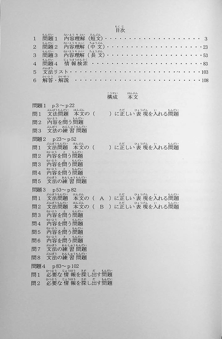 55 Reading Comprehension Tests for JLPT N3 Page 2