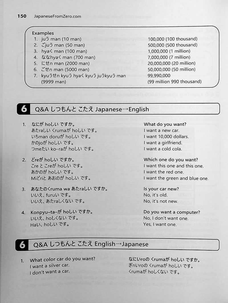 Japanese From Zero Volume 1 Page 150