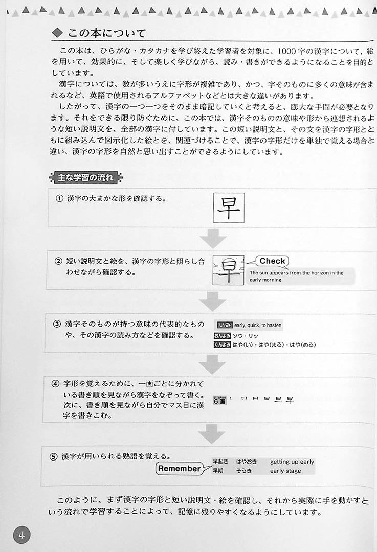 Understanding through pictures 1000 Kanji Page 4