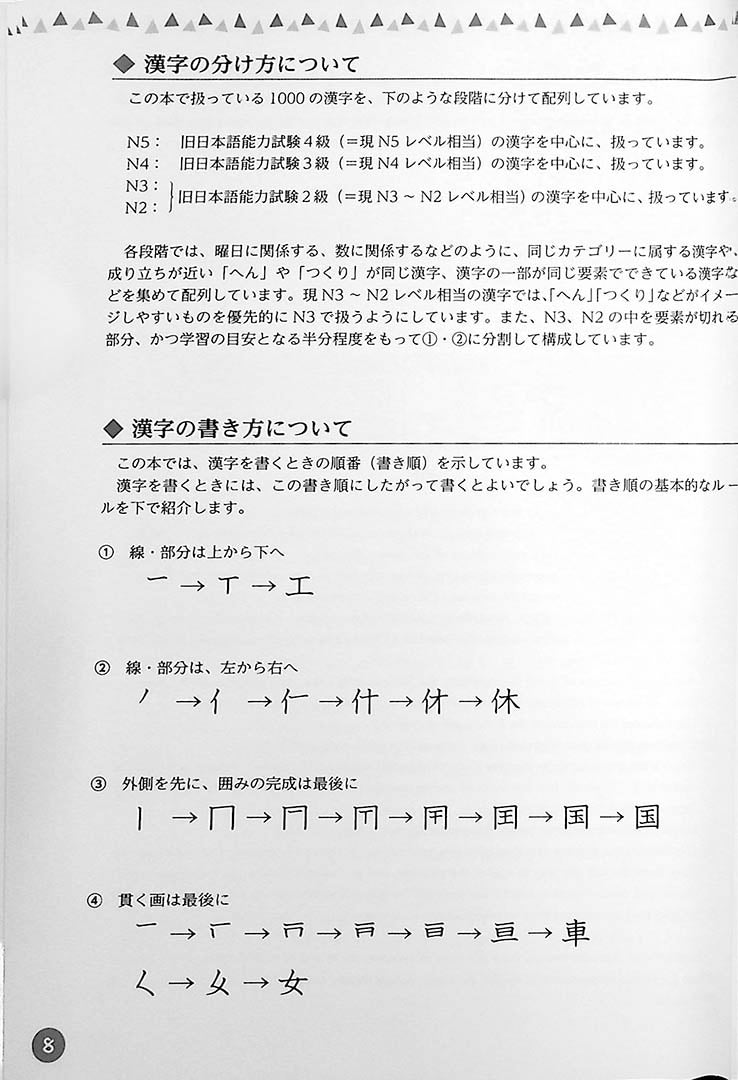 Understanding through pictures 1000 Kanji Page 8