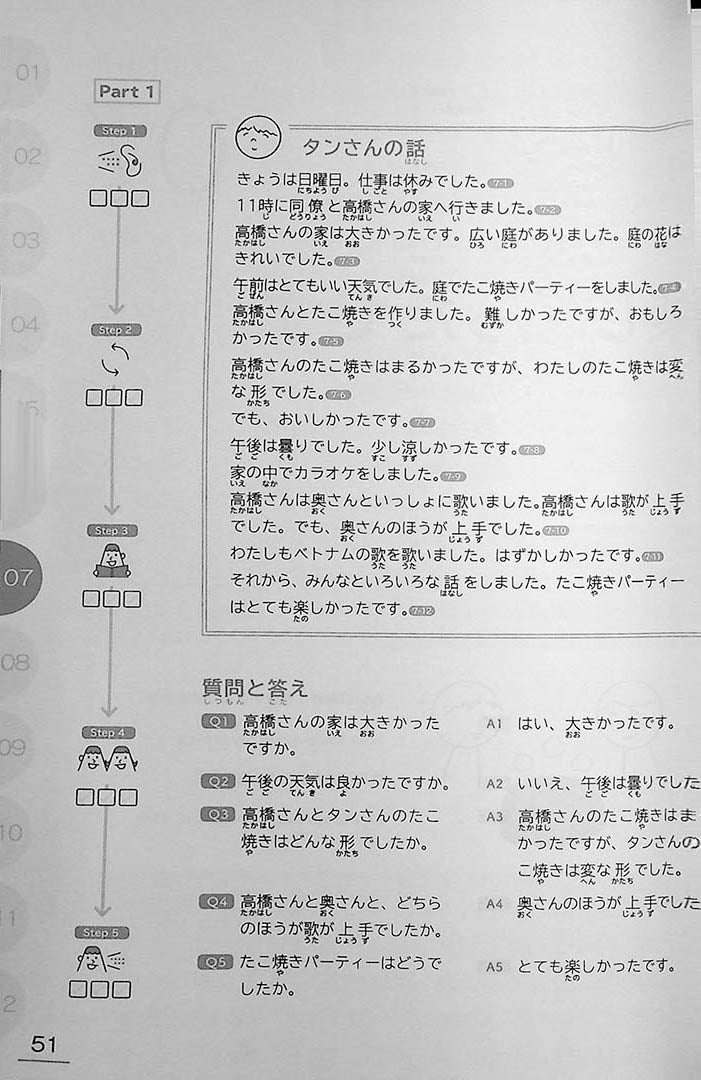 Learn Japanese Through Narratives in 160 Hours Page 51
