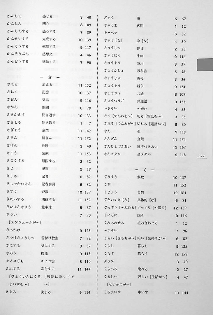 Minna No Nihongo Chukyu 1 Textbook Page 179
