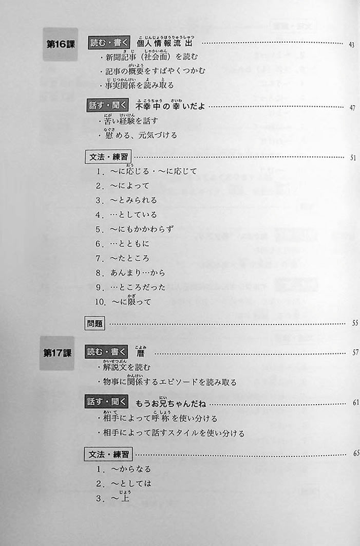 Minna no Nihongo Chukyu 2 Textbook Page 16