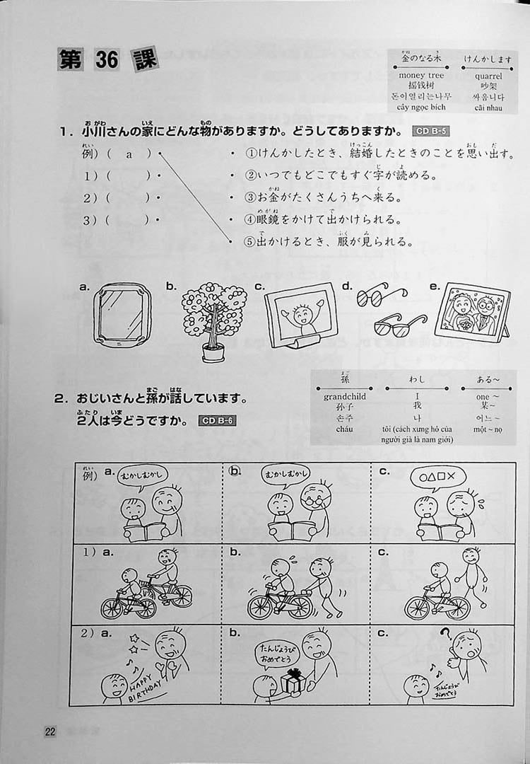 Minna No Nihongo Shokyu Listening Tasks 25 Page 22