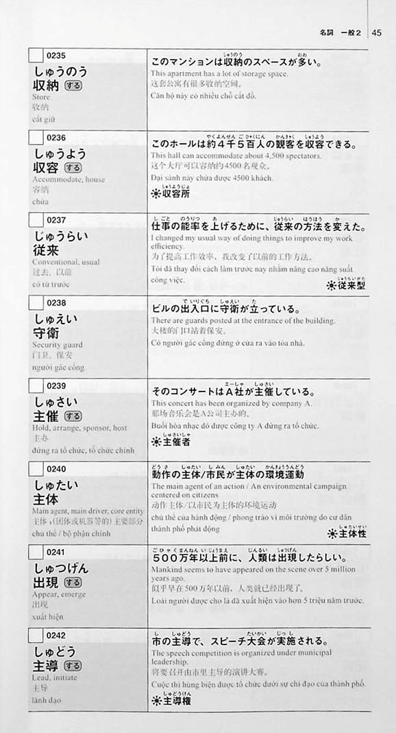New Kanzen Master Vocabulary JLPT N1 2200 Words Page 45