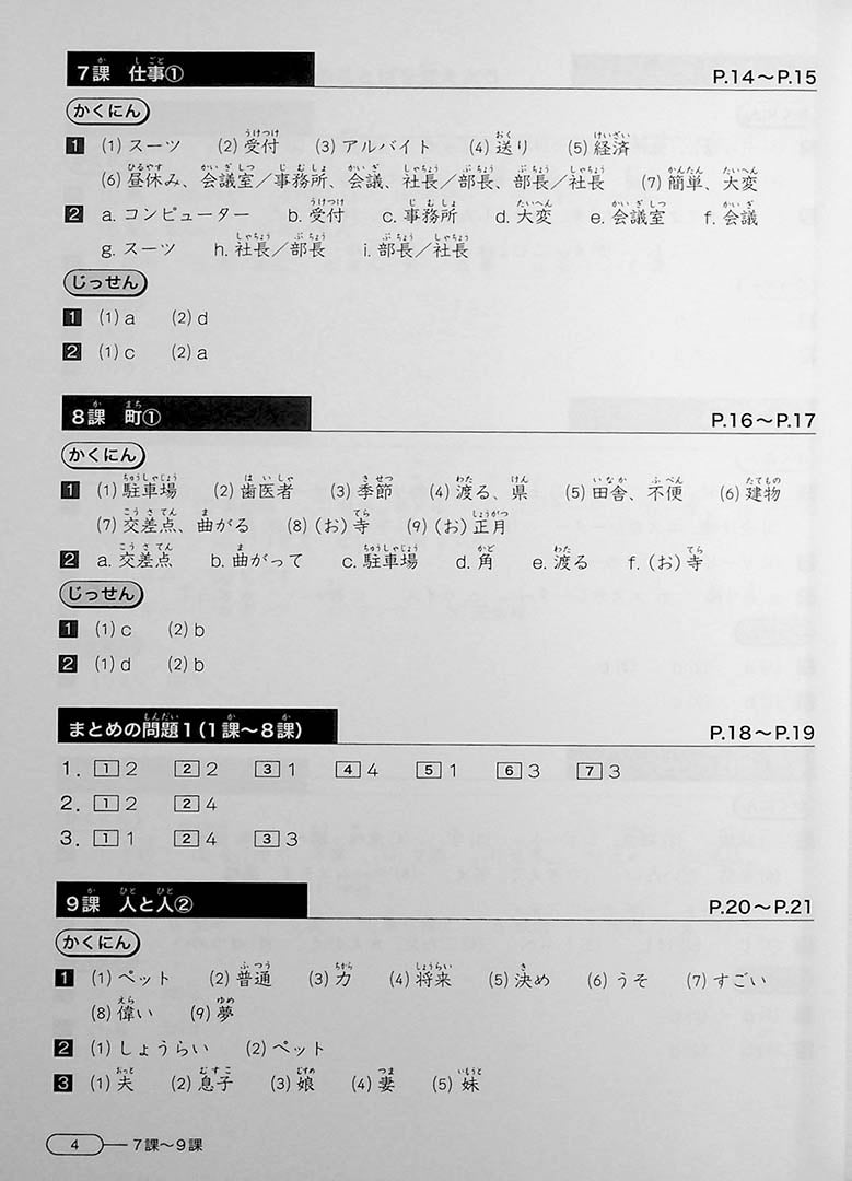 New Kanzen Master JLPT N4: Vocabulary Page 4