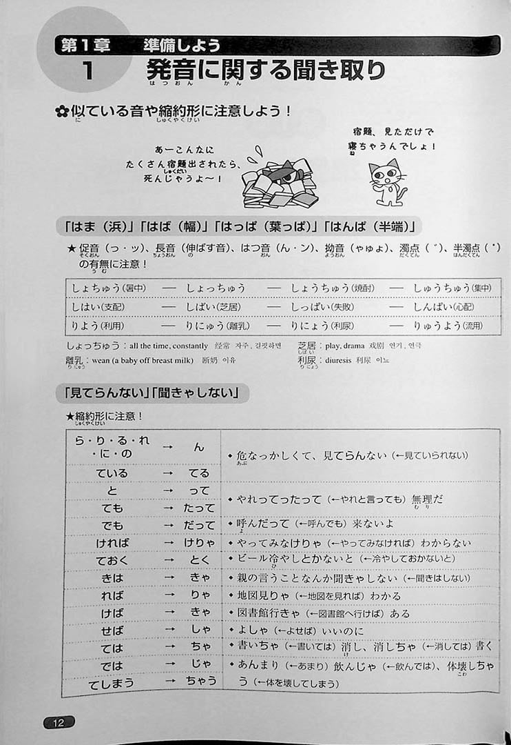 Nihongo So-Matome JLPT N1 Listening Page 12